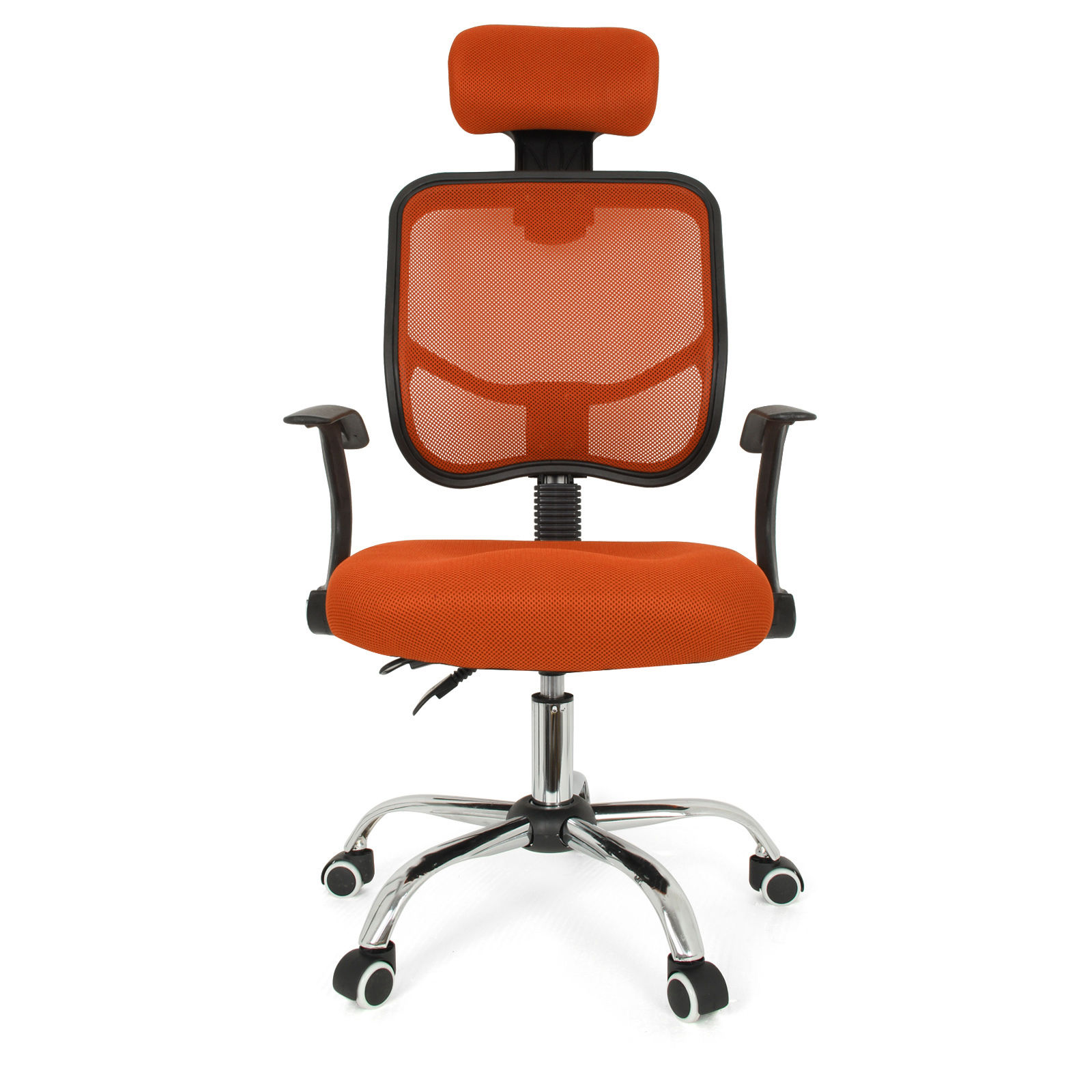 Red Desk Chair Us 122 23 Nocm Seat Height Adjustment Office Computer Desk Chair Chrome Mesh Seat Ventilate Colour Red In Office Chairs From Furniture On