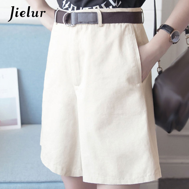 Shorts casuales para mujer con cintura alta