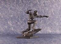 New Comic Film Marvel Super Hero The Avengers Black Panther Battle Statue Figure Figurine Toys 2 Heads