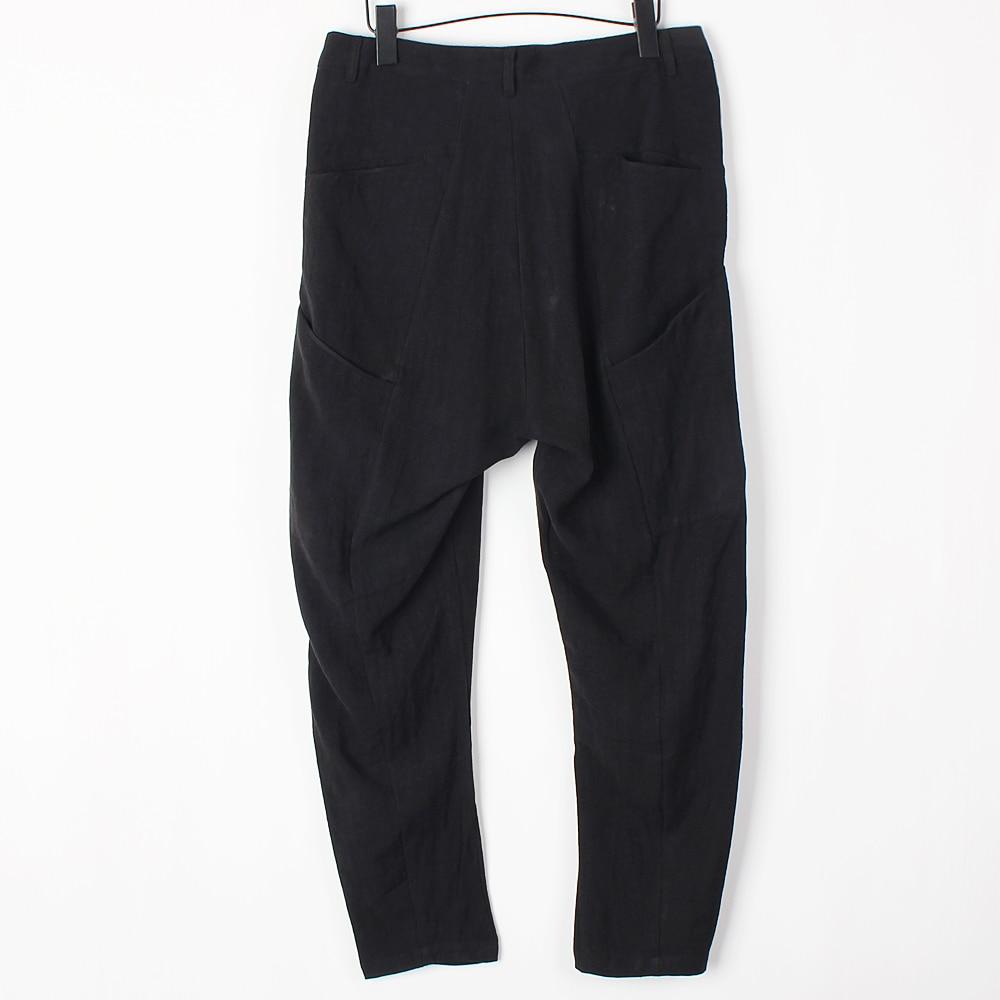 Tamaño Haren Gd Del Ropa Original De Moda Ocasional Los Negro Pantalones Diseño La Bajo Hombres Entrepierna Más Pequeño Pie Personalidad qxBUxgO
