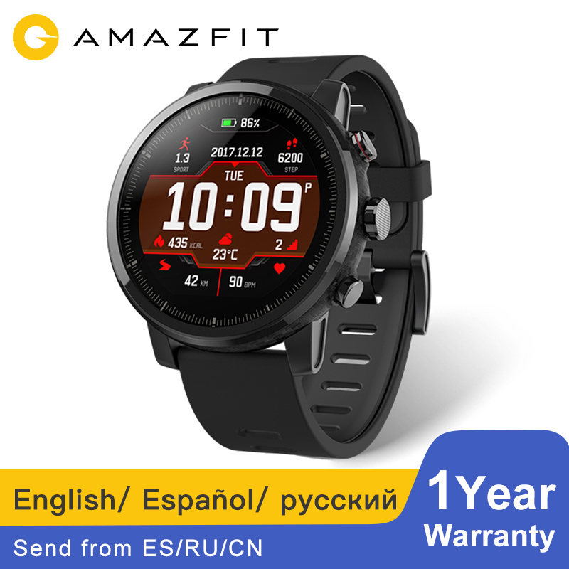 [русский версия] Huami Amazfit Stratos 2 Смарт часы отправить из России Bluetooth GPS умные часы 11 видов спорта режимы 5ATM водонепроницаемый Smartwatch