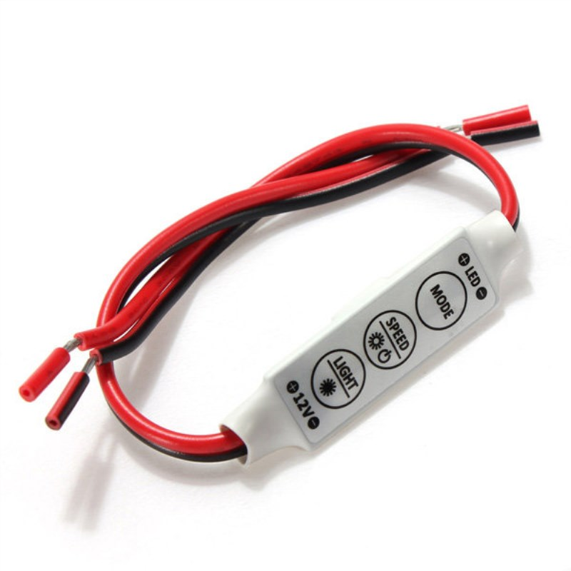 100pcs lot dc12v 24v 6A mini 3 keys led dimmer 12v controller to control single color