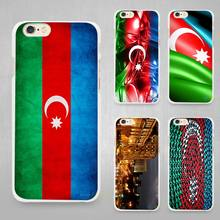 Azerbaijan Buta Flag Hard Plastic White Cell Phone Case Cover for Apple iPhone 4 4s 5 5C SE 5s 6 6s 7 8 Plus X Fundas Shell Capa
