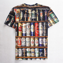 3D Beer cabinet all-over-print t-shirt