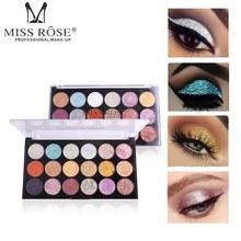 MISS ROSE 18 Colors Glitter Eyeshadow Palette Waterproof Shi