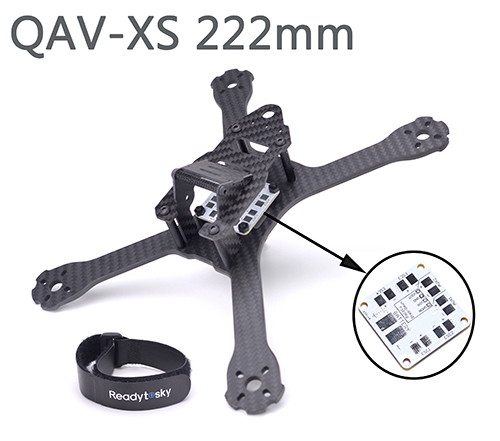 QAV-XS 222 222mm Carbon Fiber Stretch-X Quadcopter Frame Kit 4mm Arm for FPV Racing Drone QAV-X 214 Martian II fpv racing drone frog 218 carbon fiber quadcopter frame kit 4mm arm for qav xs qav210 thor x5 crusader page 3