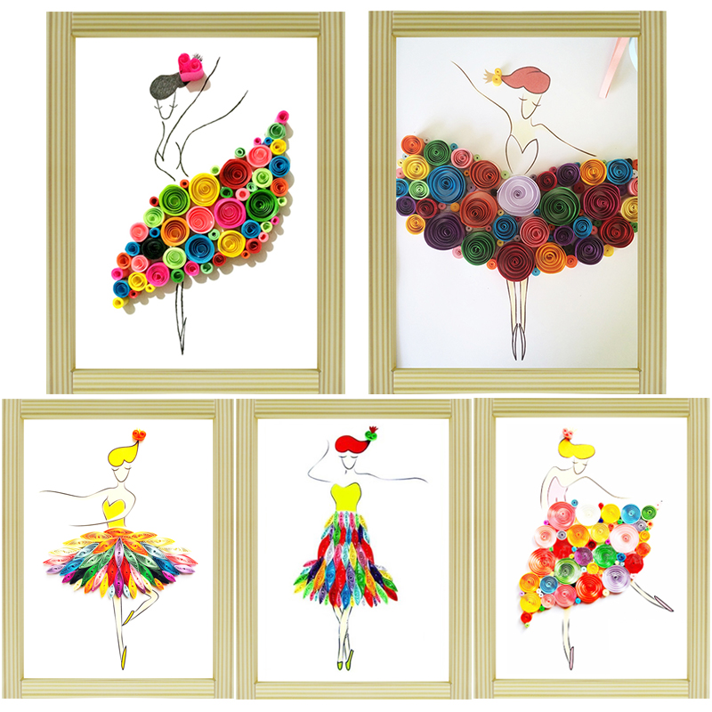 Paper Craft Decoration Home: Paper Quilling Paper Assorted Multicolor Handcraft Origami