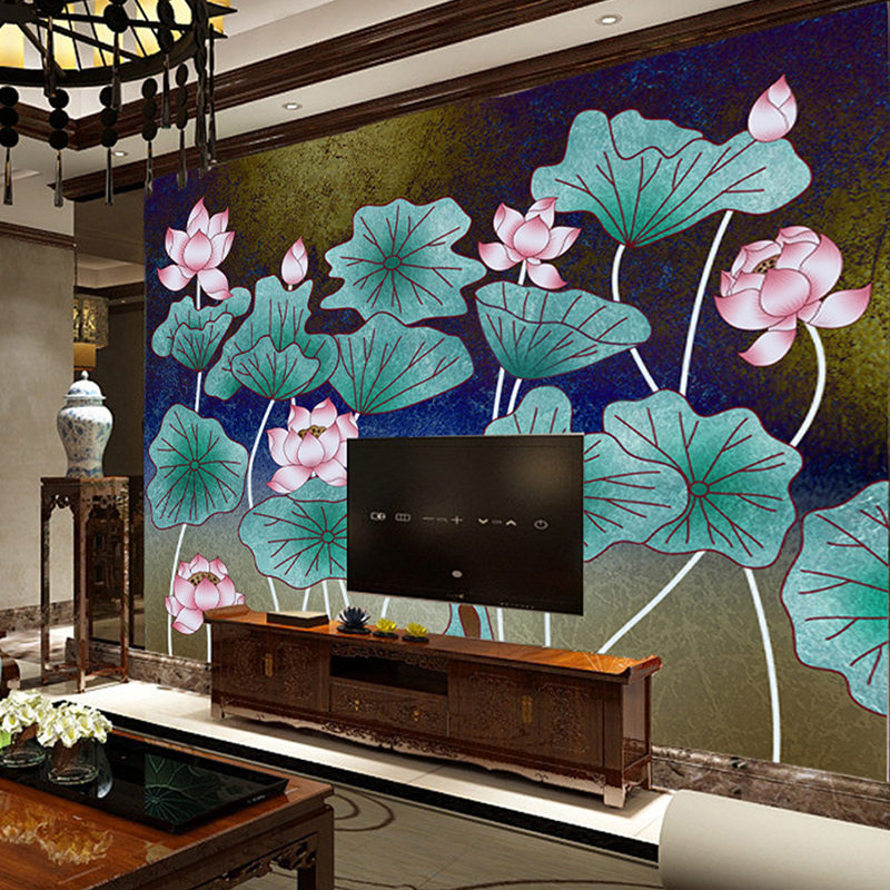 Custom Photo Wallpaper Murals 3D Embossed Lotus Living Room TV Background Wall Painting HD Photo 3D Wallpaper Murales For Walls wdbh custom mural 3d photo wallpaper gym sexy black and white photo tv background wall 3d wall murals wallpaper for living room