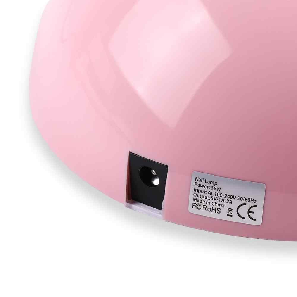 COSCELIA 36W UV LED מנורת ורוד כפול אור מקור מקצוע עבור קולואיד ריפוי ציפורניים ג 'ל פולני מייבש נייד פסטיבל מתנה