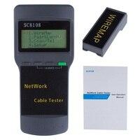 Kit de herramientas LCD RJ45 Tester de Cable de red  probador de Cable de teléfono LAN portátil profesional  medidor de seguimiento Cat5 5E 6E STP UTP LCD