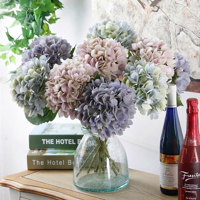 Artificial Hydrangea Flower For Wedding Decoration European Silk Home Decor Fake Flowers
