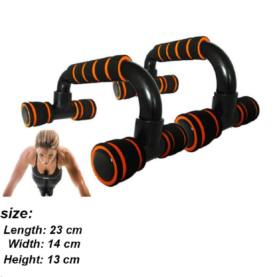 1 Pair <font><b>Push</b></font> <font><b>Up</b></font> Stands Bars <font><b>Sport</b></font> Gym Exercise Training Chest Bar Sponge Hand Grip Trainer For Body Building Workout Fitness image