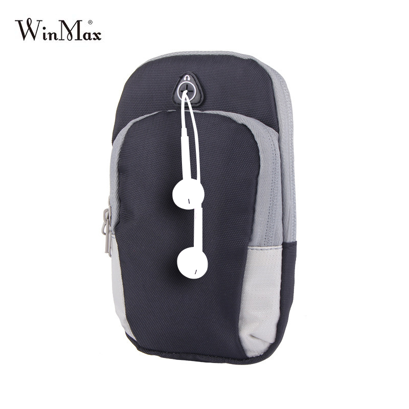 Hot Sale Sports Running Bag Jogging Gym Armband Arm Band Holder Bags For Mobile Phones Less 6 Inch Keys Pack with Headset Hole