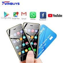 2019 kleinste Smartphone Ulcool U2 3,15 Zoll MTK6739 1GB 8GB telefone Android 8,1 Google Play 4G Nette leder Mini handy