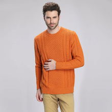 Autumn And Winter Male Knitted Sweater O-Neck Solid Color Anti Pilling Thickened Men Clothing Male Wool Pullovers MKS08