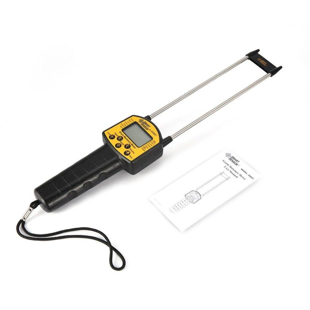 Smart Sensor Handheld Lcd Digitale Getreide Feuchtigkeit Meter Hygrometer Mit Mess Sonde Für Mais Weizen Reis Bean Feuchtigkeit Meter