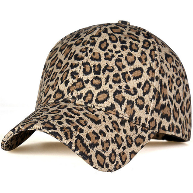 BIKE COOL Women s Baseball Hats Leopard print Snapback Females Outside  visor sun Cap 49a94620dc88