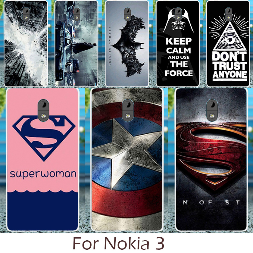 Akabeila Silicon Soft TPU Phone Case For Nokia 3 5.0 inch Cover Cool Captain American Patter Back