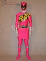 High Quality Halloween Carnival Party Unisex Super Sentai Series Lycra Spandex Cool Multicolor Zentai Suit