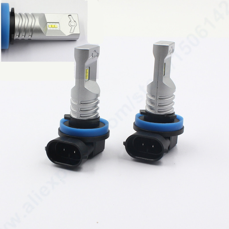 Rockeybright H8 H9 H11 HB4 9006 HB3 9005 Car Driving Daytime Running Lamp 1200LM 6000K Led Fog Lights Bulb 2pcs 12v 24v h8 h11 led hb4 9006 hb3 9005 fog lights bulb 1200lm 6000k white car driving daytime running lamp auto leds light