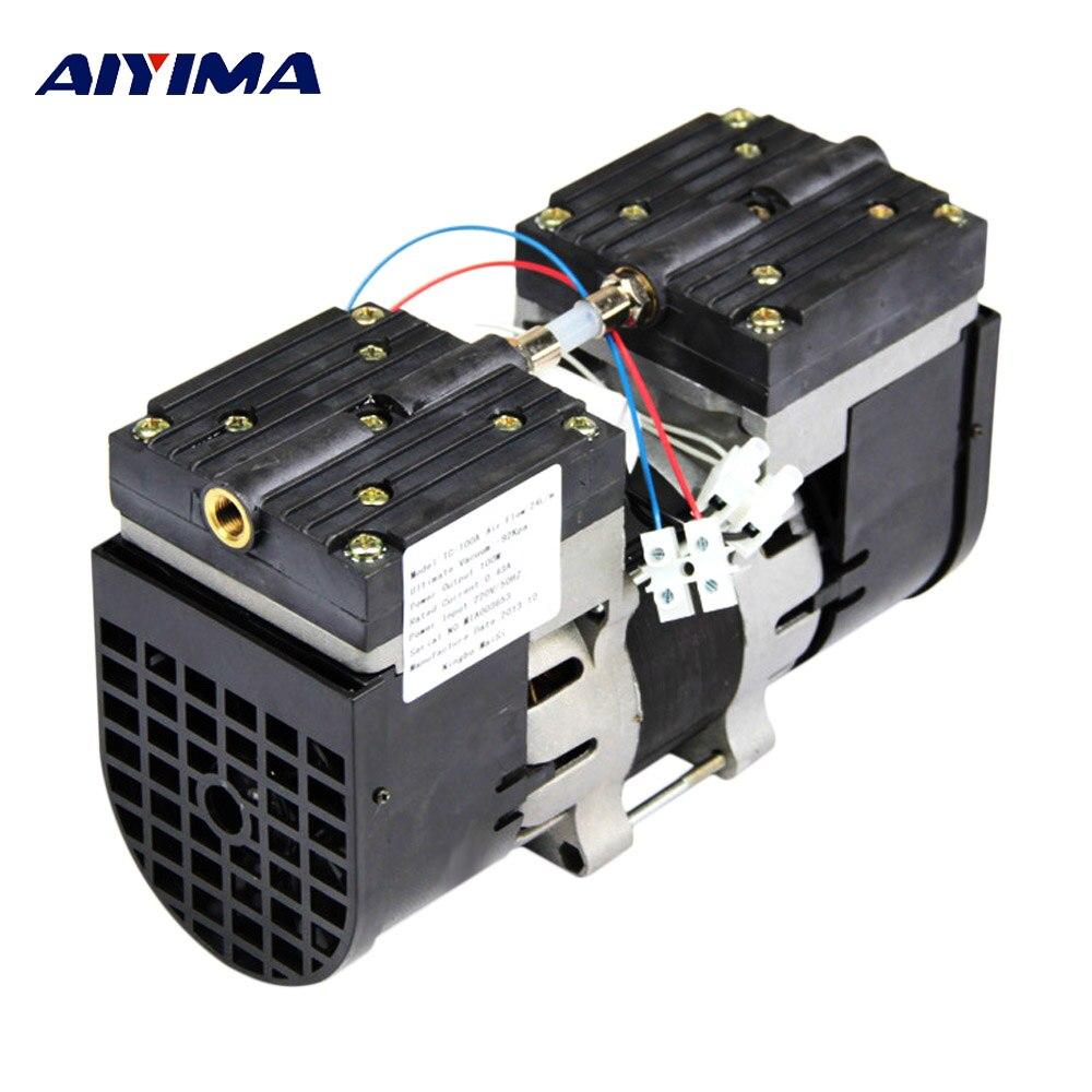 Aiyima 110 V/220 V Micro Bomba de Vácuo Duplo Cabeça Oilless Diafragma De Bombeamento De Vácuo 100 W HZ 24L 60 /MIN 30L/MIN Para Médica Especial