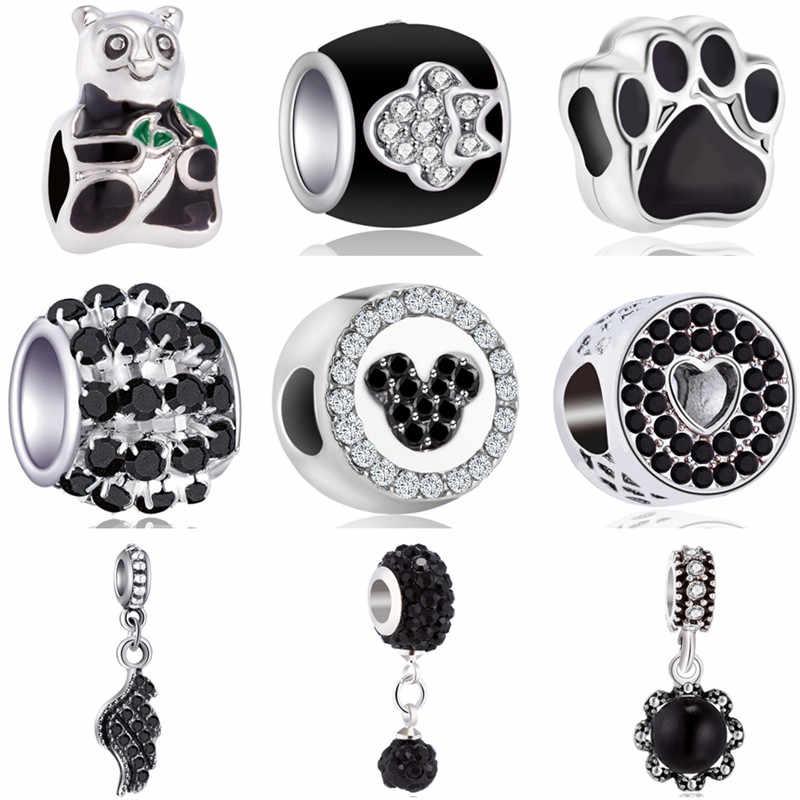 Venda quente sapatos de longa indicação asas panda cobra esmalte contas caber pandora encantos pulseiras & pulseiras para mulher diy pulsera