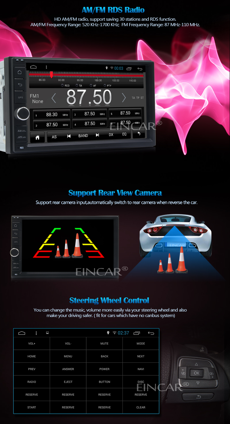 Android 5.1 4 ядра 7 дюймов автомобиль радио дважды 2 din универсальный сенсорный экран автомобильный медиаплеера аудио стерео HD GPS навигации