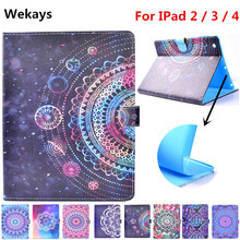 Wekays For Apple IPad 4 3 2 Stand Smart PU Leather Flip Fundas Case For Coque IPad2 IPad3 IPad4 Tablet Cover Case For IPad 2 3 4