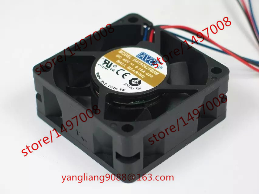 AVC DATA0625B8M -023 DC 48V 0.15A 60x60x25mm сервера Square Fan