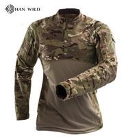 CS Shooting Tactical Camouflage Shirt Quck Dry Combat Tactical T Shirt Military Force Multicam Camo Long Sleeve T Shirt