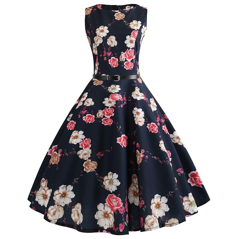 Blue Vintage Swing Dress 5