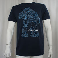Mad Printing Mens Shirt Authentic Titanfall Video Game Atlas Mech Robot Outline Logo T Shirt S
