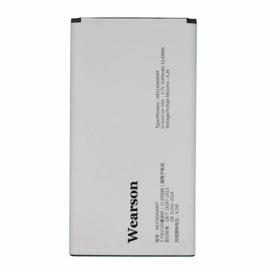 Wearson AB3160AWMT Batterie Pour Philips E570 E571 Bateria Batterie Batterij Batterie 3160 mAh