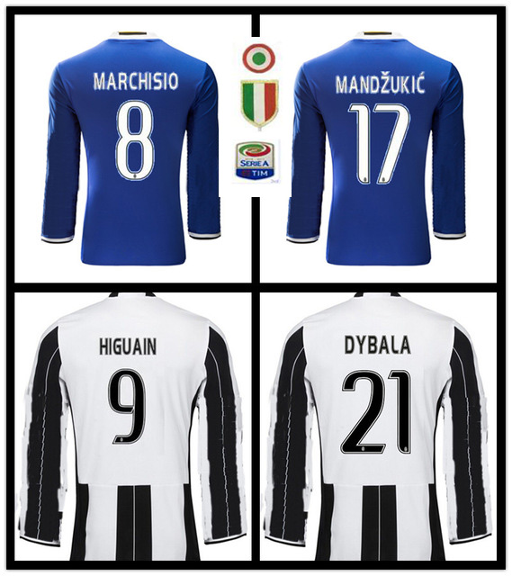 eb0514f0064 ... fr-890 SALES 2017 BEST QUALITY LONG SLEEVE ADULT JUVENTUSES SOCCER  JERSEY 16 17 HOME Thai quality 2017 2018 Juve ...
