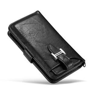 Image 2 - Haissky luxo flip caso de couro para o iphone 6 7 8 x carteira caso da aleta para o iphone 6 7 8 plus slots de cartão capa do telefone coque capa
