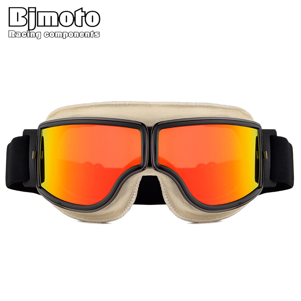BJMOTO Outdoor Sport Cool Motocross ATV Dirt Bike Goggles Motorcycle Off Road Racing Goggle Retro Motor Glasses