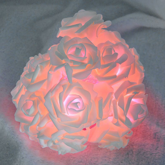 Hot sale battery operated 20 led pink rose flower fairy light garden hot sale battery operated 20 led pink rose flower fairy light garden wedding bedroom decor mightylinksfo