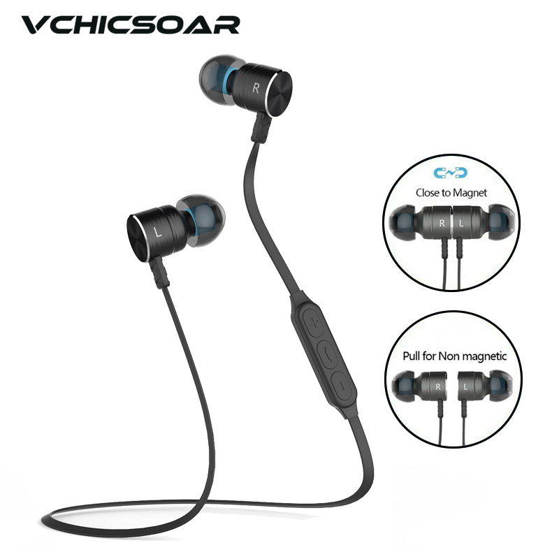 Vchicsoar BX325 Magnetic Sports Bluetooth Earphone Wireless Headset Stereo In-Ear Earphones Earbuds with Mic for iPhone xiaomi
