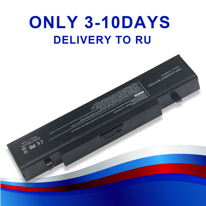 Battery For Samsung R425 R580 AA-PB9NC6B AA-PB9NC5B AA-PB9NS6W AA-PB9NC6W AA-PL9NC6B R428 R429 R464 R468 RV520 11.1V RU 4400mah rv520 battery for samsung r428 r429 r430 r438 r460 r425 rf511 aa pb9nc5b aa pb9nc6b np300e5a np355v5c np300e5c rc530