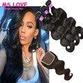 7А Перуанский Девы Волос Объемной Волны С Закрытием 3 Связки С Закрытием Необработанные Наращивание Волос Королева Волосы Перуанский Девственные Волосы