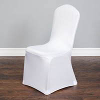 50Pcs Lycra Chair Cover Universal Polyester Spandex Wedding Weddings Party Banquet Hotel Dining Office Decorative Home Textile