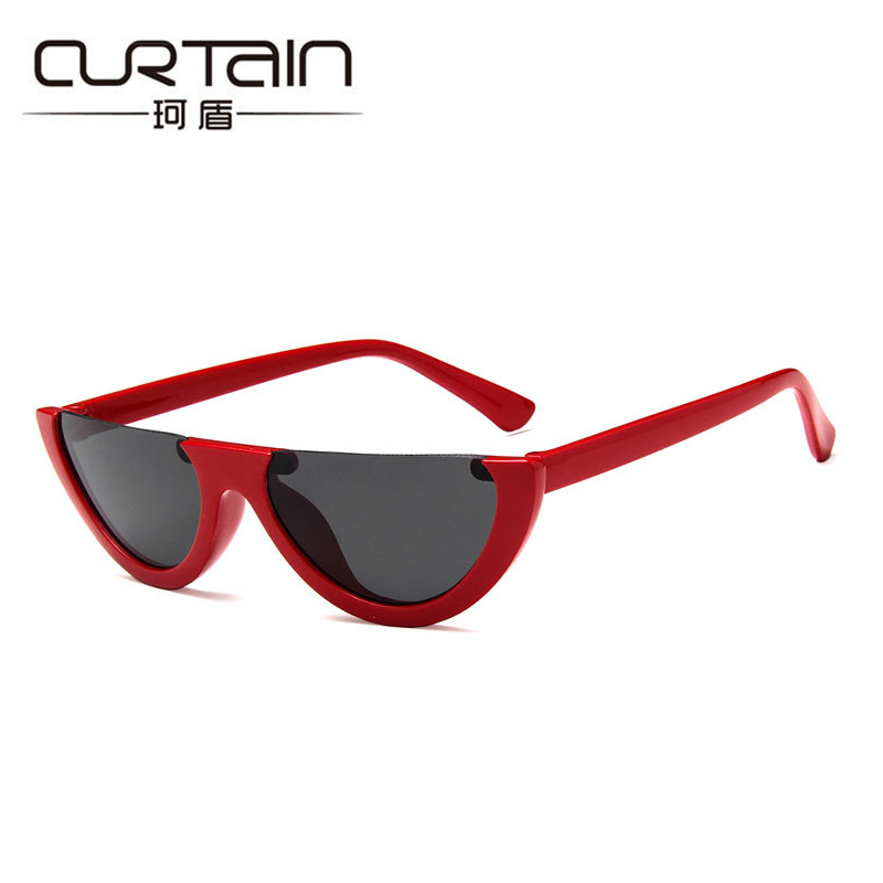 2018 New Half Frame Ladies Pink Cool Sunglasses Women Trimming Transparent Colorful Summer Glasses Outdoor Sun Glases Uv400