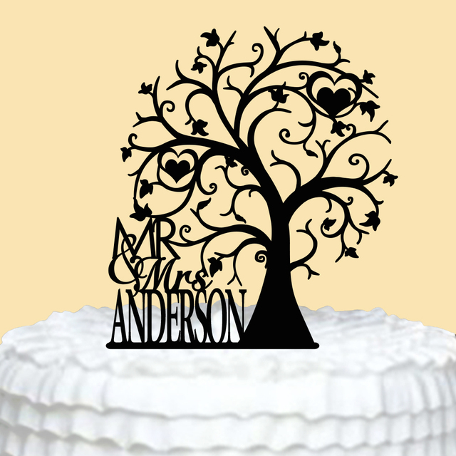 Personalized Wedding Cake Topper Mr Mrs Cake Topper for Wedding ...