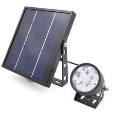 Solar Powered LED Waterproof 5m Outdoor Landscape Garden Spotlight Mini 50X3.0 Updated Twin