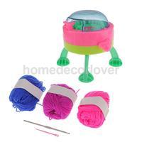 Kids Spaceship Smart Weaver Knitting Machine Loom Sock Scarf Hat Gloves Knitter Toy w/ Manual Kids Christmas Gift