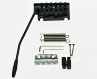 Black 2 Point ST Strat Style Guitar Tremolo Bridge Locking System After Market Guitar Bridge