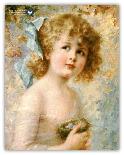 Lovely girl, beautiful baby, diamond embroidery girl ...