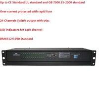 1 шт./лот 24 канала DMX Мощность переключатель обновления настроены 24 Каналы Мощность распределения сценического освещения консоли контролле