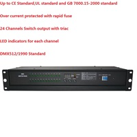 1XLot 24 Channel DMX Power Switch Pack Customized 24 Channels Power Distribution Dimmer Stage Light Console