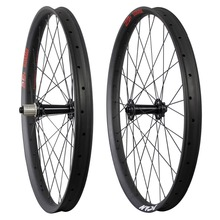 29+ carbon wheelset Carbon Fat MTB 29+ Rim 50mm Width Double Wall Hookless Tubeless Compatible yuanan 27 5er mtb rim hookless asymmetric tubeless carbon rims for dh am xc enduro mountain bike wheels 24 27 30 35 40mm width